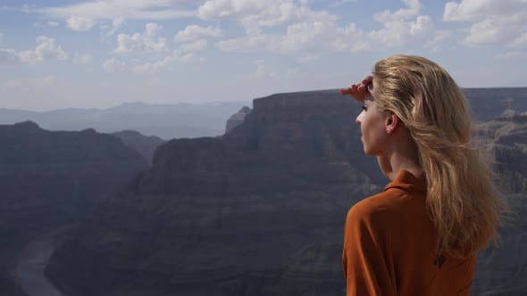 Girl In Grand Canyon