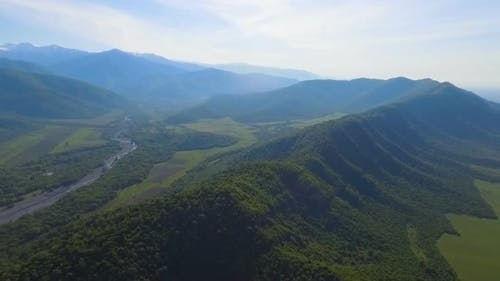 View on Caucasus Mountains, Preservation of Environment and Ecology, Georgia