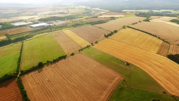 Thumbnail for Patches of cropped agricultural fields in autum