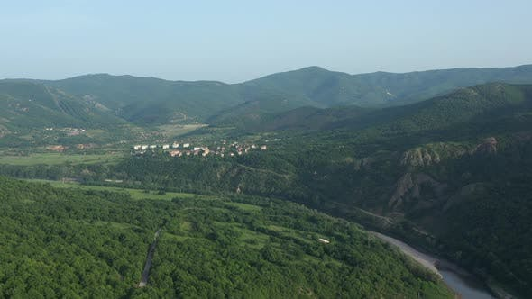 Flight Over The Town Of Madjarovo In Bulgaria 2