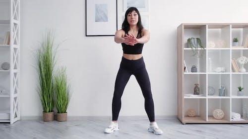 Online Fitness Athletic Female Blogger Home