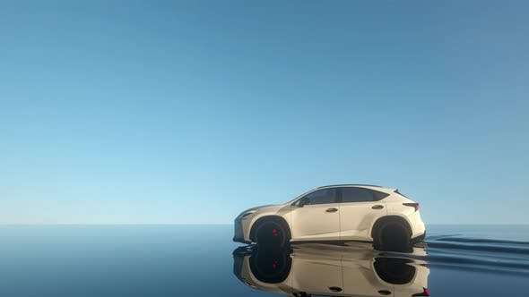 Car Water Reflection