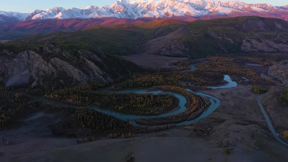 Thumbnail for Chuya River and Mountains. Altai Mountains, Russia
