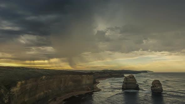 Thumbnail for Timelapse of rain on Australian coast