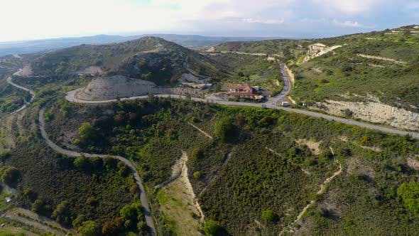 Cover Image for Green Mountain Landscape Aerial View, Outdoor Recreation Place for Ecotourism