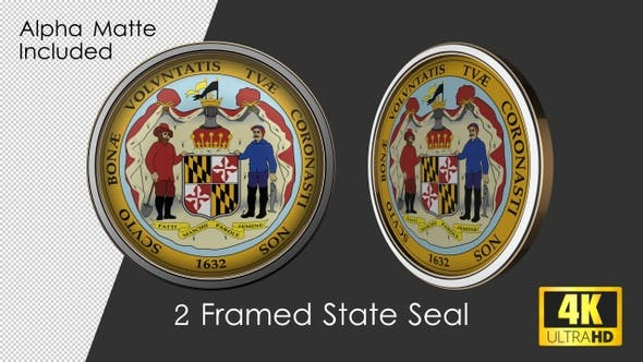 Thumbnail for Framed Seal Of Maryland State