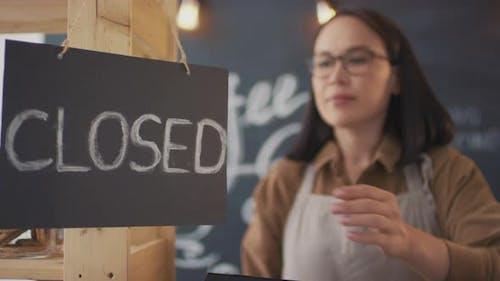 Open Sign Board In Coffee Shop