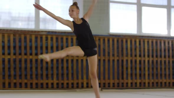 Thumbnail for Athletic Girl Practicing Acrobatic Movements