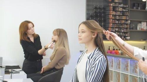 Hairdresser, Hairdo, Beauty Saloon Concept