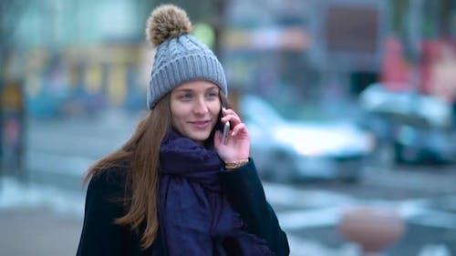 Girl Talking Phone