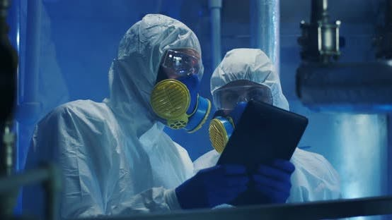 Thumbnail for Scientists in Hazmat Suits Conducting Maintenance Work