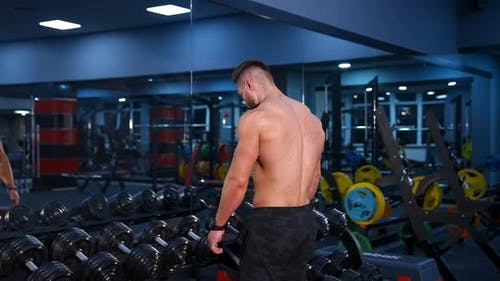 Strength workout. Video from the back.