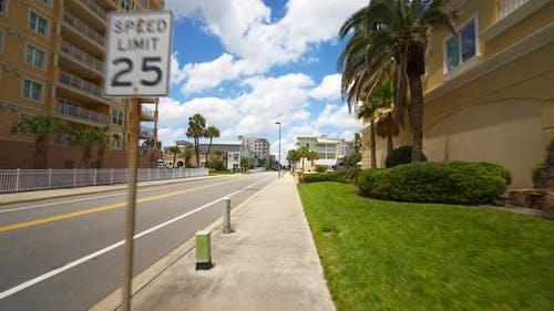 Motion video footage of Jacksonville Beach FL USA