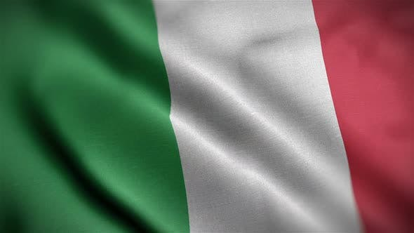 Thumbnail for Italy Flag Closeup Blowing In Wind