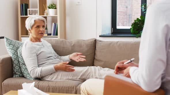 Thumbnail for Senior Woman Patient Talking To Man Psychologist