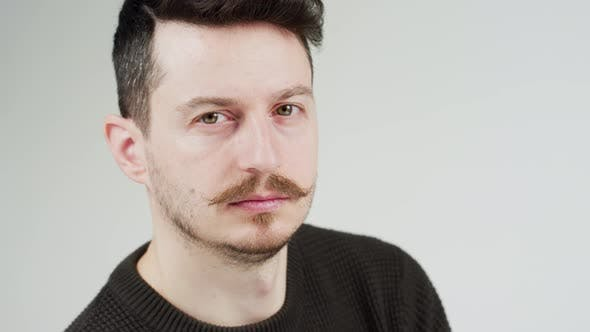 Thumbnail for Brunette man with mustache