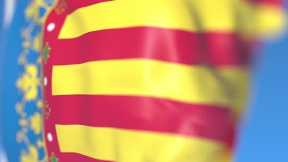 Thumbnail for Waving Flag of Valencian Community an Autonomous Region in Spain
