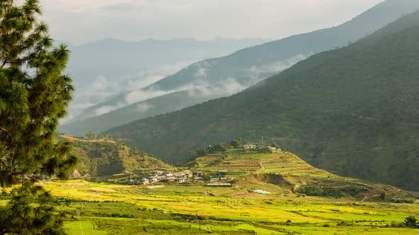 Thumbnail for Time lapse of a mountain valley in Bhutan.