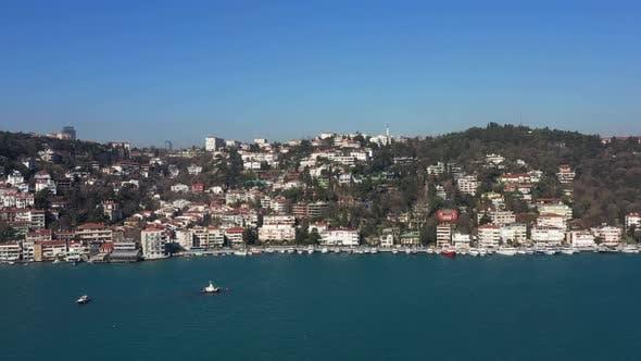 Thumbnail for Istanbul Bebek Bosphorus Aerial View