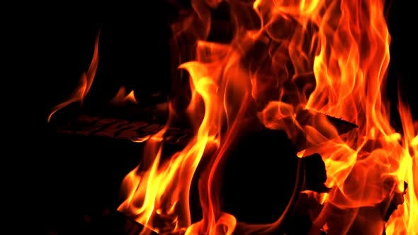 Thumbnail for Burning Fire in Slow Motion