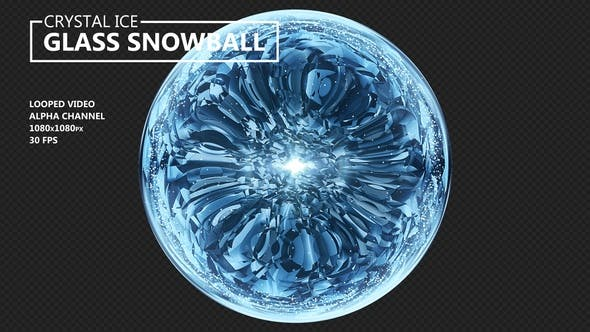 Crystal Ice Glass Snowball