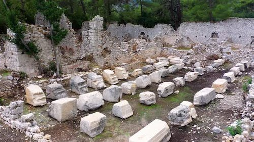 Ruins of Building at Archaeological Site