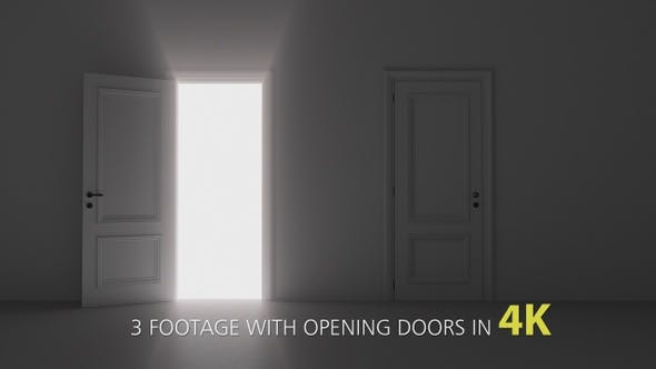 Thumbnail for 3 Footage With Opening Doors Pack 4