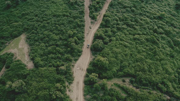 Drone Zooms Out Unveiling a Colossal Trail