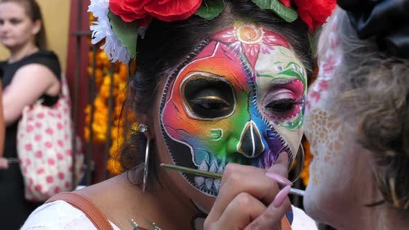 Thumbnail for Halloween Day of the Dead Spektakuläre Make-up-Party-Maske