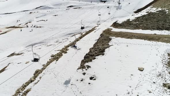 Thumbnail for Snowy Mountains And Ski Center Aerial View 13