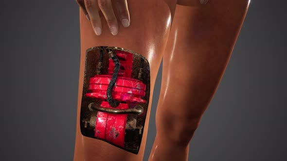 Futuristic Cyborg Woman. Humanoid Robot Concept