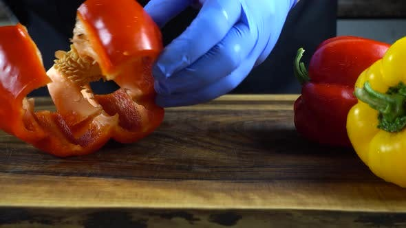 Thumbnail for The Cook Cuts Sweet Pepper 4