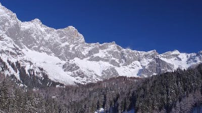 Winter Mountains With Clear Blue Sky