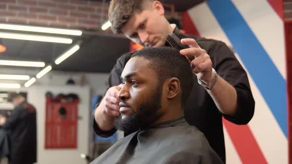 Men's Haircut in an Elegant Elite Barbershop