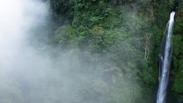 Thumbnail for Panning Across a Large Waterfall Into Thick Mist