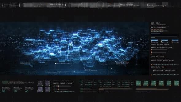 Thumbnail for Futuristic Matrix Cyber Environment 06