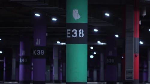 View Of Empty Underground Parking Space