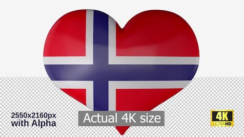Norway Flag Heart Spinning