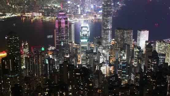 Thumbnail for Hong Kong skyline at night