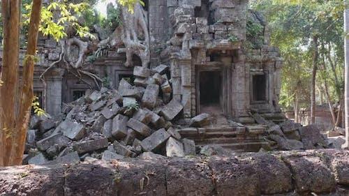 Temple Ruin Stone Blocks Piled Up