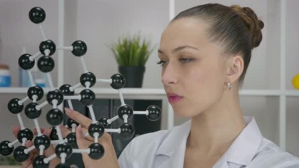 Researcher Exploring Molecular Model Sciencebased Skin Care Development