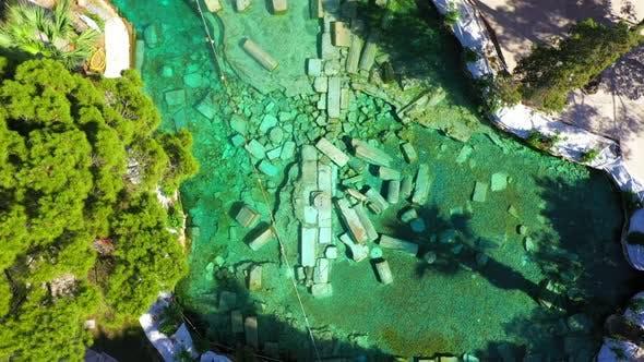 Cleopatra's Ancient Pool - Pamukkale - Turkey.
