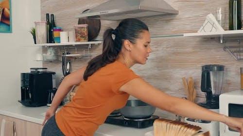 Wife Cracking Eggs