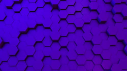 Hexagons background abstract science design motion graphic