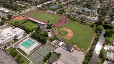 Aerial Drone Orbit Cooper City High School