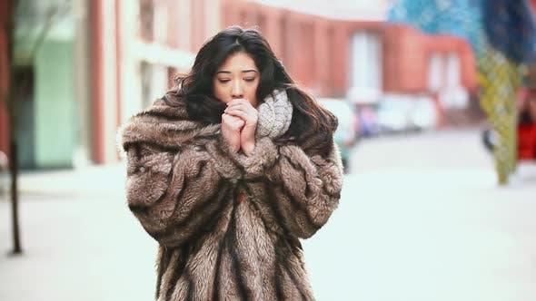 Thumbnail for Woman in fur coat