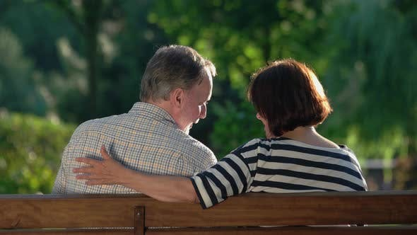 Romantic Senior Couple Spending Leisure Time Together