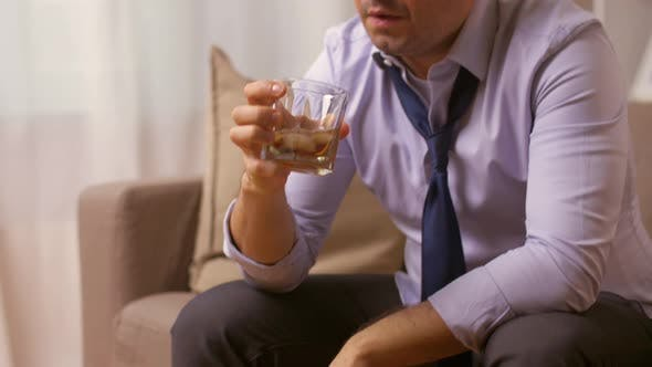 Thumbnail for Alcoholic Drinking Whiskey at Home 43