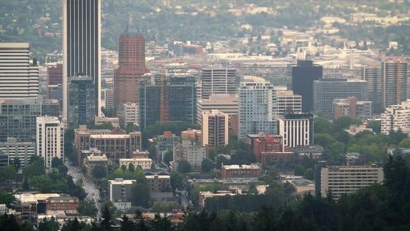 Thumbnail for iDowntown Portland Buildings Street Car Timelapse