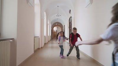 Children Entering Classroom